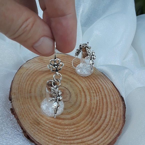 Fairy Tale Jewelry Jewelry - Fairy Sparkles - silver dangle earrings